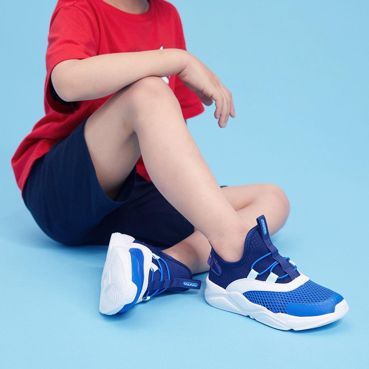 拼多多童鞋销冠!安踏 儿童 2021新款轻质透气跑鞋